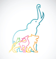 image of an animal design on white background vector image