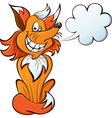 red fox smiles vector image