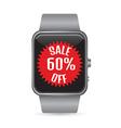 Smart watch sale icon vector image