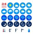 Symbols for climate changes diagnostic vector image