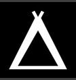 tourist tent white color icon vector image