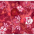 Seamless floral background Colorful red and white vector image