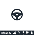 Steering Wheel icon flat vector image