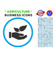 eco startup hand rounded icon with set vector image