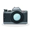 Retro cartoon foto camera vector image