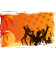 Background with dancing people vector image