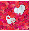 Seamless pattern with Red hearts confetti vector image vector image