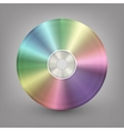 Blue-ray DVD or CD disc vector image