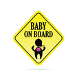 baby on board secure vector image