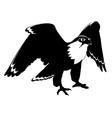 falcon black and white vector image
