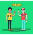 Creative of friendship between vector image