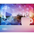 Creative coffee cup Art vector image