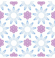 Seamless of ornament like violet lilacs and blue n vector image
