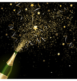 Congratulatory Champagne with Gold Confetti vector image