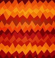 fire colored zigzag seamless pattern vector image