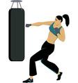 Kickboxing training vector image