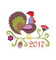rooster symbol of 2017 vector image