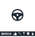 Steering Wheel icon flat vector image