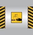 warning hazard signs vector image