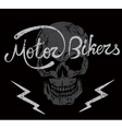 Vintage label with skull and Motor Bikers text vector image