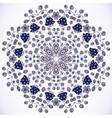 Cartoon template circle background vector image