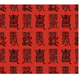 seamless chinese character longevity pattern vector image