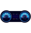 racing car speedometer vector image vector image