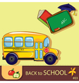 colorful school background vector image