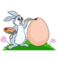 rabbit easter vector image vector image