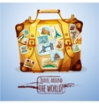 Touristic Suitcase With Stamps vector image