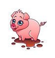 cartoon pig isolated vector image