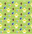 chick in eggshell easter eggs seamless vector image
