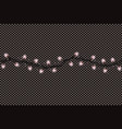 christmas lights string isolated on transparent vector image