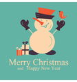 greeting card with snowman vector image