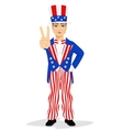 handsome man dressed up like Uncle Sam vector image