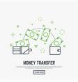 money transfer concept vector image