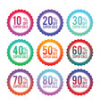 simple badges of discount stickers vector image