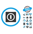 Turn Off Flat Icon with Bonus vector image