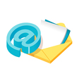 icon email and mail vector image vector image