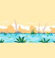 river game background landscape vector image