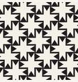 seamless black and white cross lattice pattern vector image