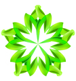 Abstract green pattern vector image