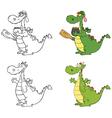 Cartoon dinosaur designs vector image