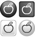 button apple vector image