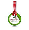Christmas card paper circle vector image