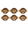Monkeys vector image
