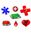 emergency collection vector image vector image