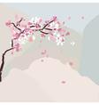 cherry tree vector image vector image