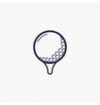golf ball simple line icon golfing thin linear vector image