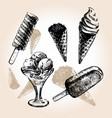 ice cream draw vector image